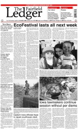 EcoFestival Cover Story, Fairfield Ledger, April 22 (Earth Day).